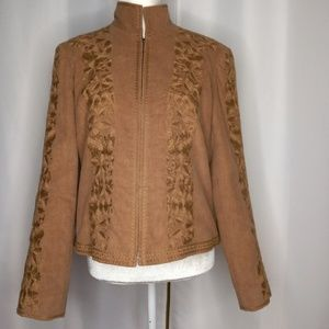 COMPANY ELLEN TRACY Embroidered Jacket Sz 12